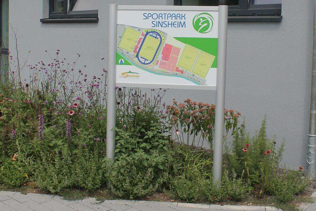 Wegweiser Sportpark Sinsheim